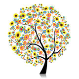 Floral tree beautiful for your design Stock Image