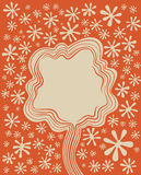 Floral tree decorative background Stock Image