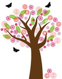 Floral Tree illustration Royalty Free Stock Image