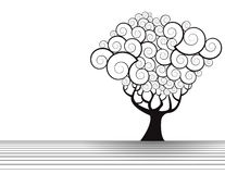 Floral tree illustration Royalty Free Stock Photography