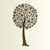 Floral tree silhouette Royalty Free Stock Image