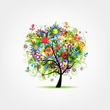 Floral tree summer for your design Royalty Free Stock Images