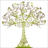 Floral Tree - vector elements Royalty Free Stock Photos