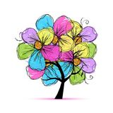 Floral tree for your design Royalty Free Stock Image