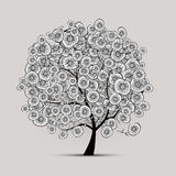 Floral tree for your design royalty free illustration
