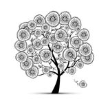 Floral tree for your design stock illustration
