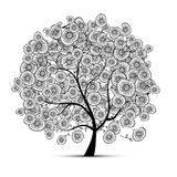 Floral tree for your design Stock Photo