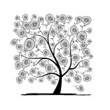 Floral tree for your design Royalty Free Stock Photo
