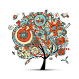 Floral tree for your design Stock Image