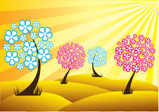 Floral trees Royalty Free Stock Images