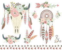 Floral Tribal Indian Elements Royalty Free Stock Image
