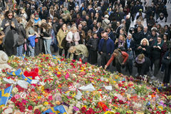 Floral Tributes in Stockholm, Stock Photo