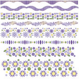 Floral trim or border collection Royalty Free Stock Photo