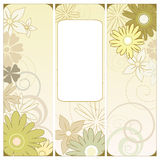 Floral triptych. Vector illustration of a floral triptych in green Stock Image