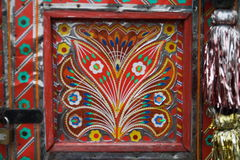 Floral Truck art. Truck paintingis a popular form of indigenous art inAfghanistan,Pakistan,India, and otherSouth Asiancountries, featuring floral Royalty Free Stock Photo