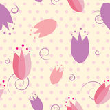 Floral tulip seamless pattern Stock Image
