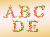 Floral type for your design. stock photos