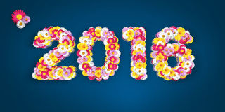 Floral Typo 2016 Stock Image