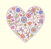 Floral  valentine heart Royalty Free Stock Photography
