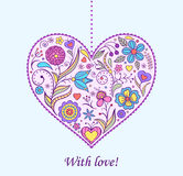 Floral  valentine heart Royalty Free Stock Images