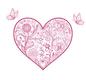 Floral  valentine heart Royalty Free Stock Photo