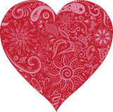 Floral Valentine Heart vector Royalty Free Stock Photography
