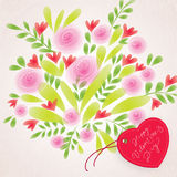 Floral Valentine`s Day background Royalty Free Stock Photography