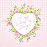 Floral Valentine`s Day background Stock Photo