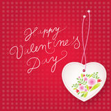 Floral Valentine`s Day background Royalty Free Stock Photos