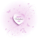 Floral Valentine's Day background Stock Photo