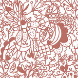 Floral valentine seamless wallpaper Stock Photos