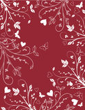 Floral valentines background Royalty Free Stock Image