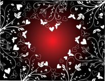 Floral valentines background Royalty Free Stock Photos