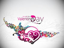 Floral valentines day background Stock Image