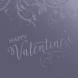 Floral Valentines Day background Royalty Free Stock Photos
