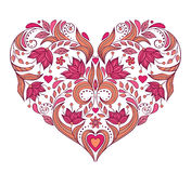 Floral valentines heart Royalty Free Stock Photography