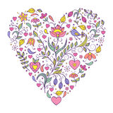 Floral valentines heart Stock Photo