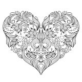 Floral valentines heart Royalty Free Stock Images