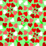 Floral valentines hearts romantic pattern backgrou Stock Photography