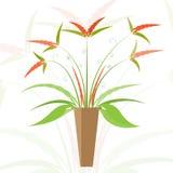 Floral in vase  illustration Royalty Free Stock Image