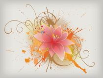 Floral vector. Eps 10 floral vector background Royalty Free Stock Photo