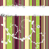 Floral Vector. Vector - Bright and colorful stripes with floral grunge Royalty Free Stock Photo