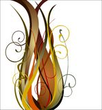 Floral vector. Nature style abstract decoration with ornaments Stock Photography