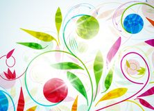 Floral, vector abstract background Royalty Free Stock Photo
