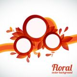 Floral vector background Royalty Free Stock Photos