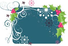 A Floral Vector Background Royalty Free Stock Images