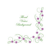 Floral vector background Royalty Free Stock Photo