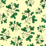 Floral vector background with green leaves and branches. Used for scrap booking, greeting card, wrapping paper, wallpaper Stock Photography