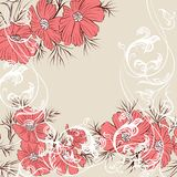 Floral vector background Stock Photos