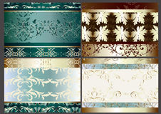 Floral vector background set with seamless element Royalty Free Stock Photography